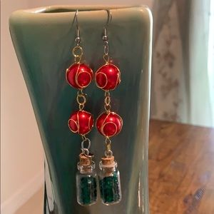 Jewelry - 3/$10 NWT earring red green vial